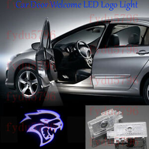 2x New Hellcat Logo Led Door Courtesy Projector Lights For Dodge Charger 2006 21