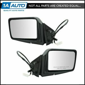 Power Side Mirrors Pair Set For 87 95 Pathfinder Pickup Truck D21 Hardbody