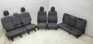 2014 2016 Toyota Highlander Seats Front Rear Leather And Cloth Seat Set Fits Toyota