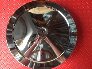 Air Cleaner Lid Only Muscle Car Style 14 Inch Chrome Plated Steel Top Only 2195t