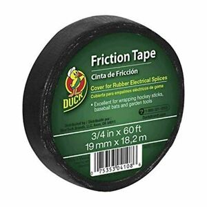 Duck Brand 393150 Friction Tape 3 4 inch X 60 Feet Single Roll Black