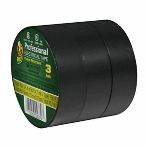 Duck Brand 299004 Professional Electrical Tape 0 75 inch By 50 ft 3 pack Black