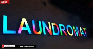 New led Channel Letters Sign 18 Rgb Magic Colors W Remote 130 Effects