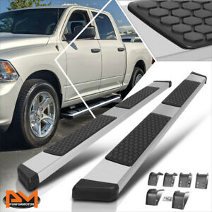For 09 15 Dodge Ram 1500 3500 Crew Cab 5 5 Honeycomb Step Running Boards Silver