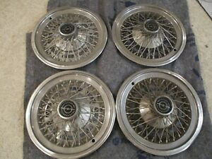 1974 1979 Ford Thunderbird 15 Wire Hubcaps Set Of 4 Oem Hollander 727