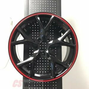 18 Type R Style Fits Honda Accord Sport Civic Si Exl Brand New Black Wheels