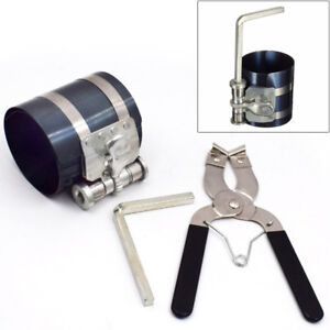 Ratchet Style Piston Ring Compressor And Piston Ring Installer Pliers Tool