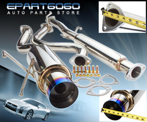 For 94 01 Integra Gs Ls Rs Catback Exhaust Muffler System 4 5 Burnt Tip 3 Pipe