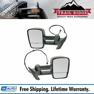 Trail Ridge Tow Mirror Power Heated Memory Signal Towing Pair Set For Chevy Gmc