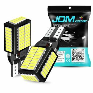 Jdm Astar T15 Led Reverse Back Up Light Bulb 921 912 W16w 904 906 White 6000k 2x