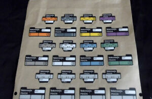 Tektronix P6434 Probe Cable Labels For Logic Analyzer 24 Count Free Shipping