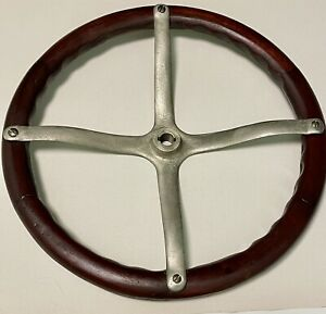 Wooden 17 Vintage 4 Spoke Spider Steering Wheel For Model A Or T Rat Rod