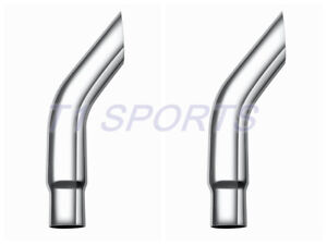 Pair 6 To 5 Odx 36 Length Bull Horn Chrome Stack Pipe Truck Tube Exhaust Pipe