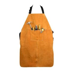Apron Leather Welding Blacksmith Resistant Bib Protective Welder Clothing Shop