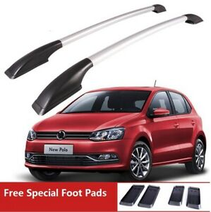 For 2013 2020 Volkswagen Polo Luggage Roof Rack Side Rail Aluminum