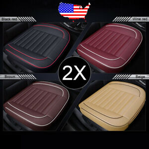 Universal 1 Set 2x Car Front Pu Leather Seat Cover Cushion For Ford Ranger F150