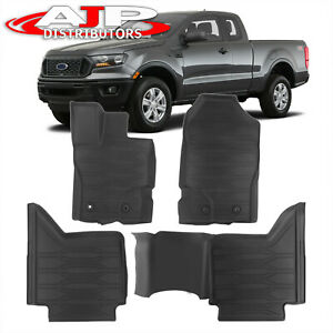 All Season Protect Floor Mats Liners Front Rear For 2019 2021 Ford Ranger Super