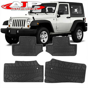 All Season Protect Floor Mats Liners Front Rear For 2007 2013 Jeep Wrangler Jk