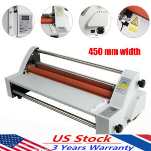 17 Inch Four Rollers Hot Cold Laminating Machine Laminator Single dual Sided Us