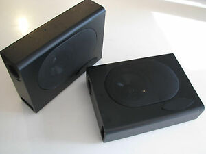 Hidden Under Seat Or Rear Seat Radio Speakers Enclosures 3x8x11 Inch Compact Box