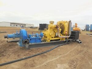 10 X 8 Metso thomas Dredge Booster Pump With Caterpillar 3406 Engine On Skid