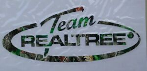 Team Realtree Official Logo Oval Hardwood Green Hunting Window Decal Sticker