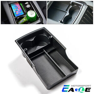 For Tesla Model X s 2016 2020 Center Console Organizer Storage Box Cup Holder