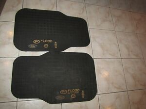 Set Of 2 Vintage Ford Mazda Lincoln Logo Rubber Floor Mats