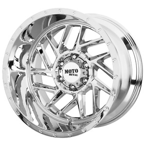 20 Inch 8x165 1 4 Wheels Rims Moto Metal Mo985 Breakout 20x10 18mm Chrome