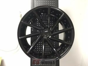 20 Swirl Style Gloss Black Style Staggered Wheels Rims 5x114 3 5x4 5