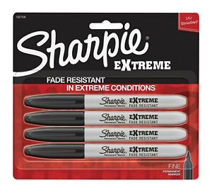 Sharpie Extreme Permanent Markers Black 4 count