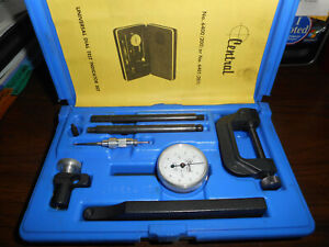 Central Tools Universal Dial Test Indicator Set Indicator 200 Case