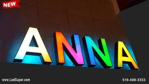 New led Channel Letters Sign 18 130 Magic Colors front And Back Lit