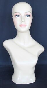 21 5 In H Female Head Mannequin Bust Form Display Mannequin Skin Tone Mh2f New