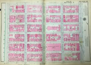1921 Manhattan Ny Temple Emanuel Hunter College 7th Regiment Armory Atlas Map