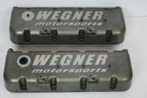 Sb2 2 Valve Covers W Oilers Sbc Gm Drag Race Circle Oval Track Car Rod Racing