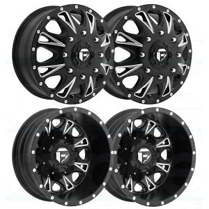 4 New 17 Fuel D513 Throttle Dually Wheels 17x6 5 8x200 129 129 Matte Black Mil