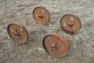 Ihc International Tall Cast Wheels Hit Miss Gas Engine Steam Industrial Cart