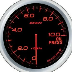 Defi Advance Bf Red 60mm Oil Pressure Gauge metric