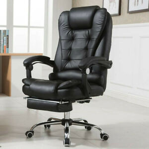 Big tall Office Chair Executive Pu Leather Computer Desk Chair Swivel High Back