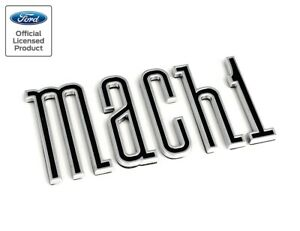 2003 2004 Ford Mustang Mach 1 Rear Deck Trunk Emblem Letters Chrome Black