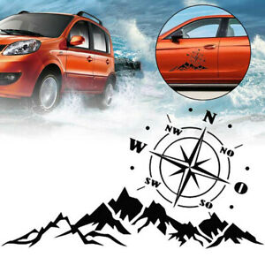 Compass Mountain Tree Graphics Sticker Decal Fit For Car Off road Camper Decor