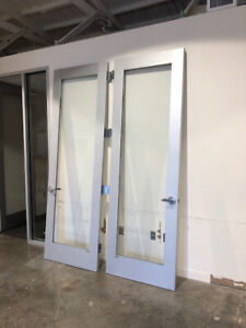 Commercial Aluminum glass Office Door With Side Glass 3 X 9 Tall