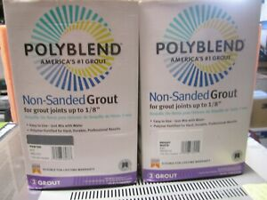 2 Bags X10 Lbs bag Polyblend Non sanded Tile Grout Bright White Pewter