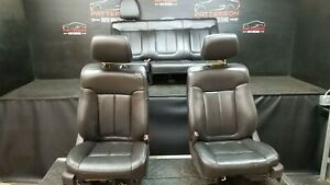 2010 Ford F150 Ext Cab Front Power Heated Rear Leather Seats Black Trim Jb1
