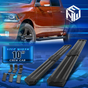 J2 For 09 20 Dodge Ram 1500 3500 Crew Cab 10 Pleated Step Bar Running Boards