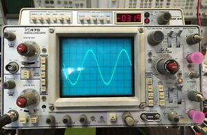 Tektronix 475 Dual Trace Oscilloscope 200mhz With Dm44 Module Part Not Working