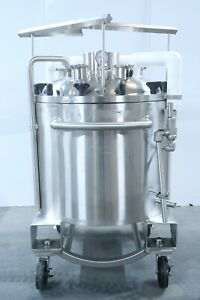 Abec Inc 300 Liter Cryovessel 316l Stainless Steel Jacketed Cryo Tank