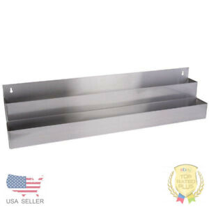 42 Stainless Steel Double Tier Commercial Bar Speed Rail Liquor Display Rack