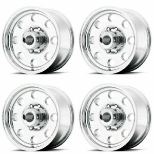 Set 4 15x7 American Racing Ar172 Polished Wheels 5x4 5 6mm 5 Lug Rims W Lugs